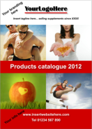 Products catalogue design with your branding
